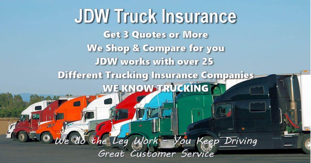 jdw commercial truck insurance quotes online
