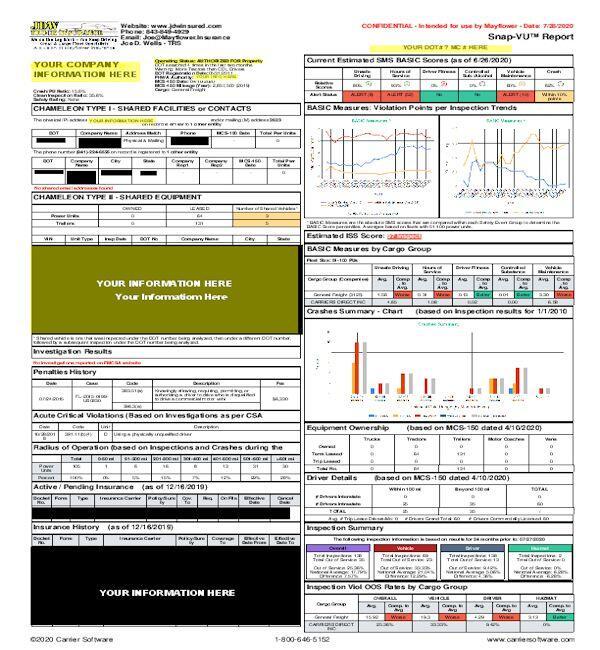 free trucker insurance report